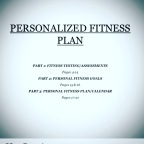 Personalized Fitness Plan