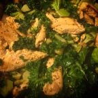Chicken with Kale and Broccoli Skillet